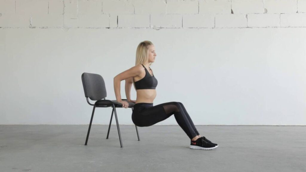 Chair dips - Full body exercises with weights