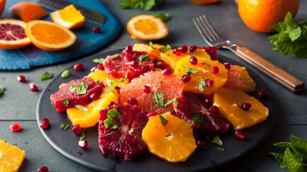 Citrus fruits - Foods for clear skin