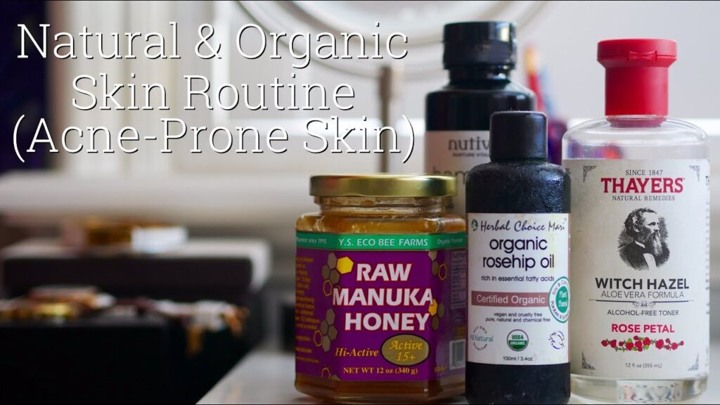 Natural skin care routine for acne