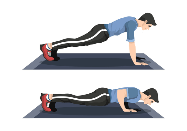 Push-ups - Full body exercise at home to lose weight