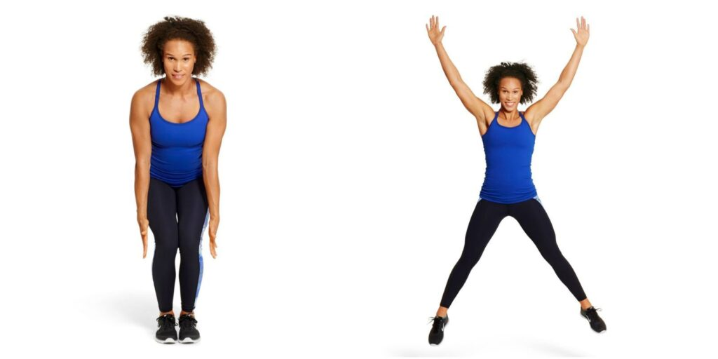 Star Jumps - Full body exercises at home for beginners